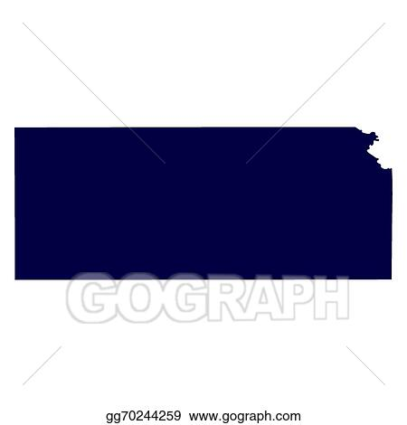 vector ilration map of the u s state of kansas eps clipart gg70244259
