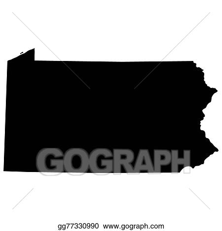 Clip Art Vector - Map of the u.s. state of pennsylvania . Stock EPS ...