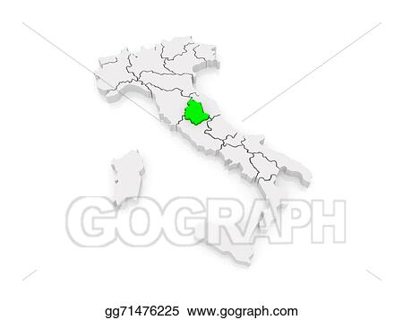 Drawing Map Of Umbria Italy Clipart Drawing Gg71476225 Gograph
