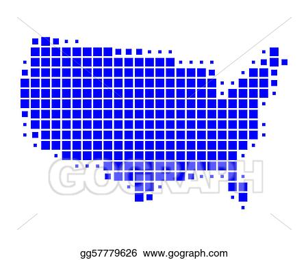 Map Of America Clipart.Vector Art Map Of United States Of America Eps Clipart Gg57779626