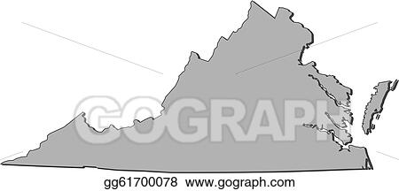 Virginia United States Map.Vector Clipart Map Of Virginia United States Vector