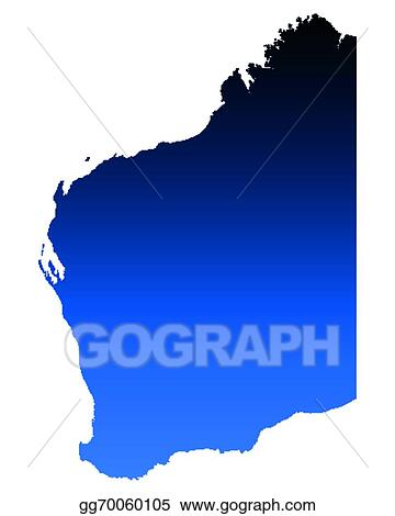 Australia Map Clipart.Vector Clipart Map Of Western Australia Vector Illustration