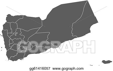 Political Map Of Yemen.Eps Illustration Map Of Yemen Vector Clipart Gg61416057 Gograph