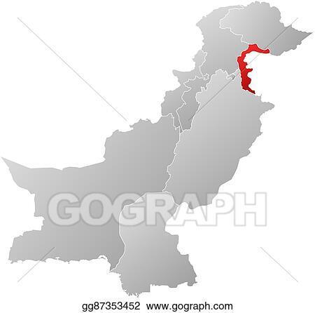 Kashmir On World Map.Clip Art Vector Map Pakistan Jammu And Kashmir Stock Eps