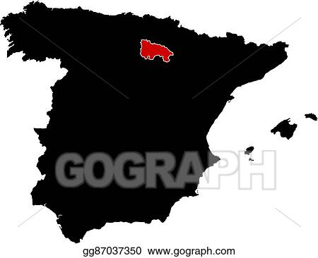 Map Of Spain Rioja.Vector Stock Map Spain La Rioja Stock Clip Art Gg87037350