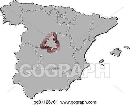 Map Of Spain Drawing.Vector Art Map Spain Madrid Clipart Drawing Gg87126761 Gograph