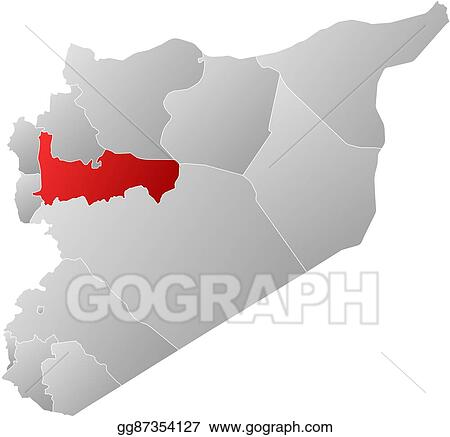 Vector Art - Map - syria, hama. Clipart Drawing gg87354127 - GoGraph