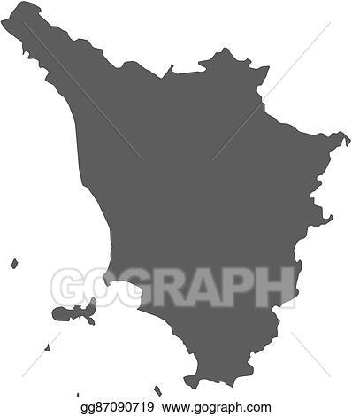 Clip Art Vector - Map - tuscany (italy). Stock EPS gg87090719 - GoGraph