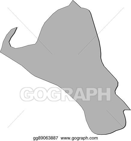 Vector Art Map umm alquwain united arab emirates Clipart