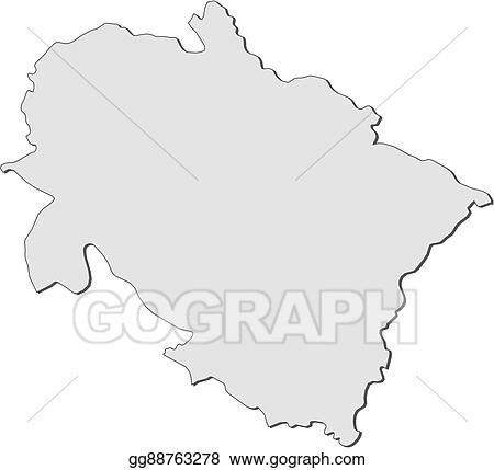 Vector Art - Map - uttarakhand (india). Clipart Drawing gg88763278 ...