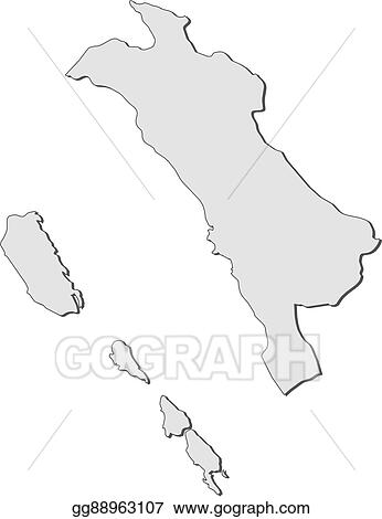 Vector Illustration - Map - west sumatra (indonesia). Stock ... on