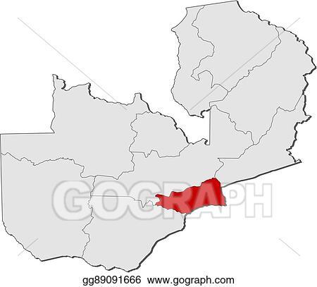 Vector Art - Map - zambia, lusaka. Clipart Drawing ...