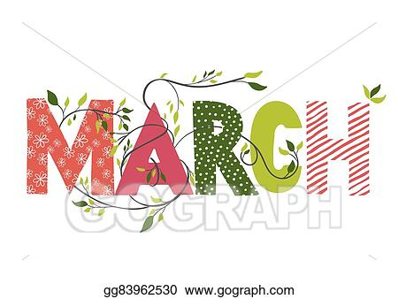 Month March Clip Art Royalty Free Gograph