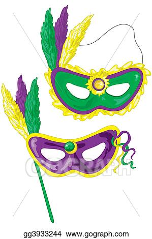 stock illustration mardi gras masks clipart drawing gg3933244