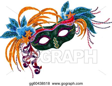 drawing mardi gras orleans mask clipart drawing gg60438518 gograph