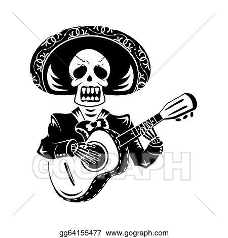 vector stock mariachi guitar player stock clip art gg64155477 rh gograph com clipart mariachi band mariachi clipart images