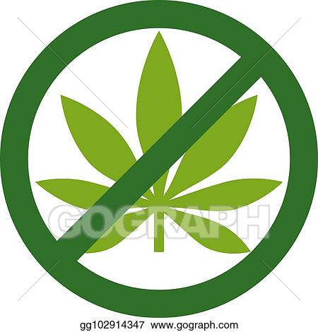 Vector Stock Marijuana Leaf With Forbidden Sign No Drug No To