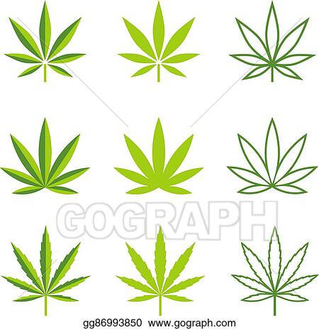 Eps Vector Marijuana Leaves Vector Icons Stock Clipart Illustration Gg86993850 Gograph