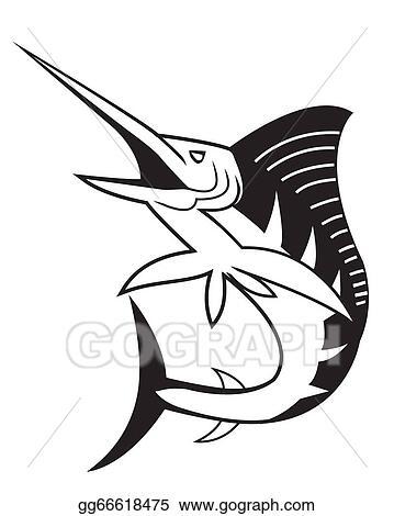 Marlin Drawing Art