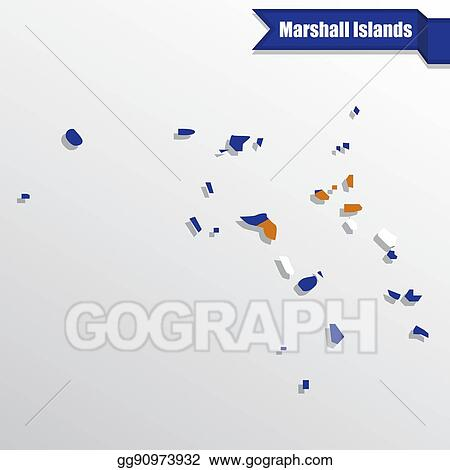 Vector Stock - Marshall islands map with flag inside and ...