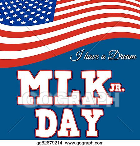 Vector Stock Martin Luther King Day Typographic Design Clipart