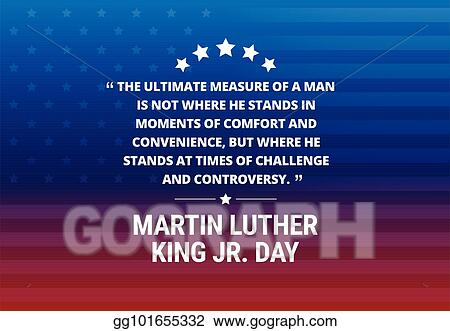 Vector Stock Martin Luther King Jr Day Holiday Vector Background