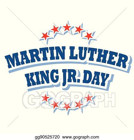 vector illustration martin luther king jr day logo symbol eps