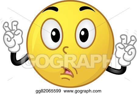 Vector Clipart Mascot Smiley Quote Vector Illustration Gg82065599
