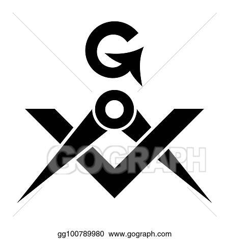 Vector Clipart Masonic Square And Compasses Sacral Emblem Of