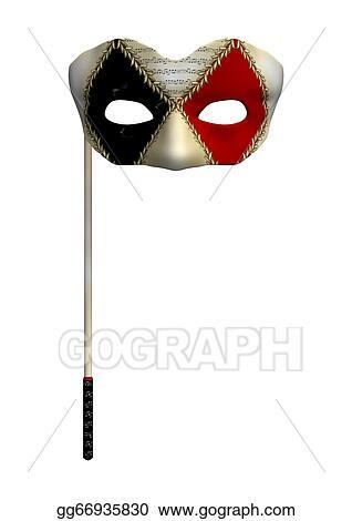 stock illustration masquerade mask clip art gg66935830 gograph