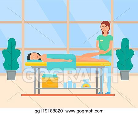 Vector Illustration Massage Procedure In Spa Beauty Salon Foot Care Eps Clipart Gg119188820 Gograph