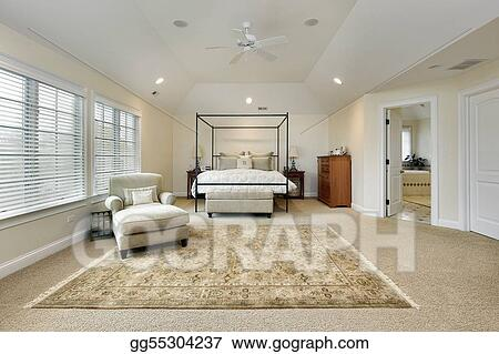 Picture - Master bedroom with tray ceiling. Stock Photos ...