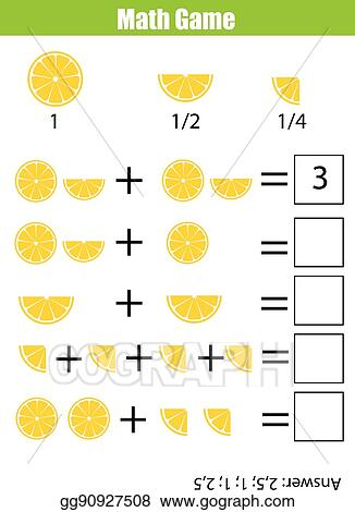 Vector Clipart - Math educational counting game for children ...
