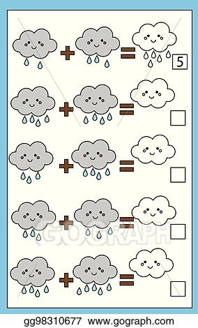 Vector Illustration Math Educational Counting Game For