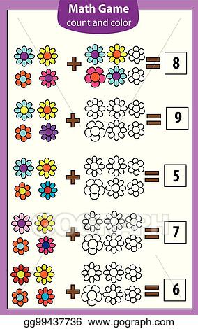 Vector Clipart Math Educational Game For Children