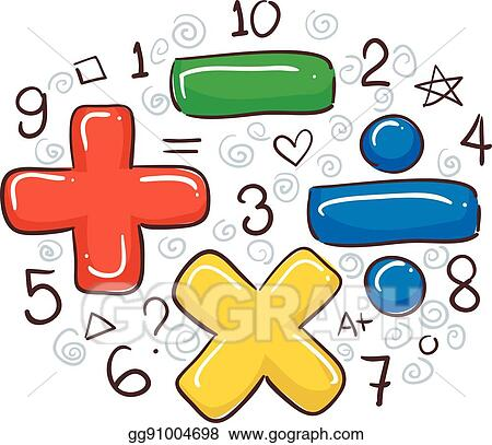 Vector Illustration Math Symbols And Numbers Stock Clip Art