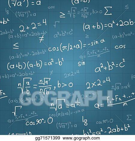 Clip art vector mathematical formulas vector seamless pattern on clip art vector mathematical formulas vector seamless pattern on blueprint stock eps gg71571399 malvernweather Gallery