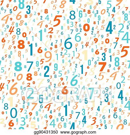 Eps Vector Mathematics Background Different Numbers Pattern