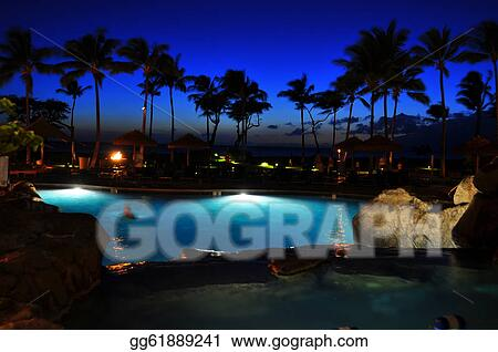 Stock Photo Maui Beach Resort Stock Photography