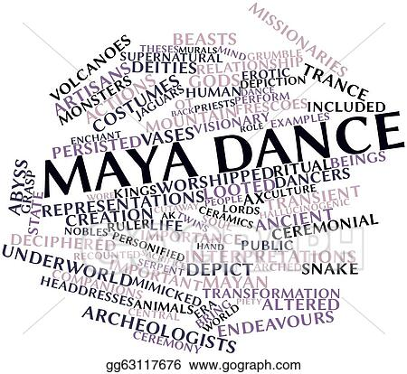 Drawing - Maya dance  Clipart Drawing gg63117676 - GoGraph