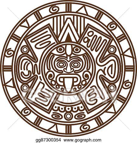 Eps Vector Mayan Calendar Stock Clipart Illustration Gg87300354