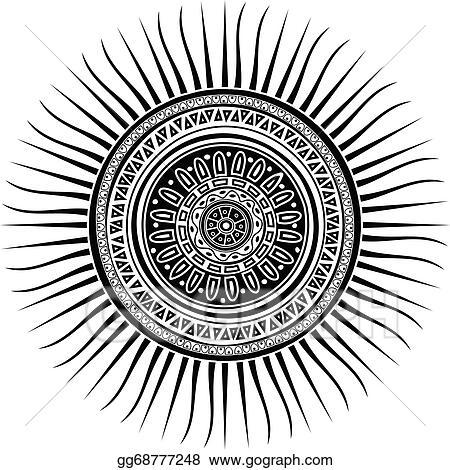 vector stock mayan sun symbol clipart illustration gg68777248 gograph. Black Bedroom Furniture Sets. Home Design Ideas