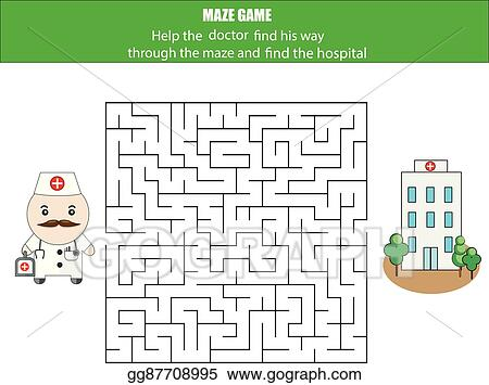 Vector Art Maze Game Postman And Post Box Kids Activity