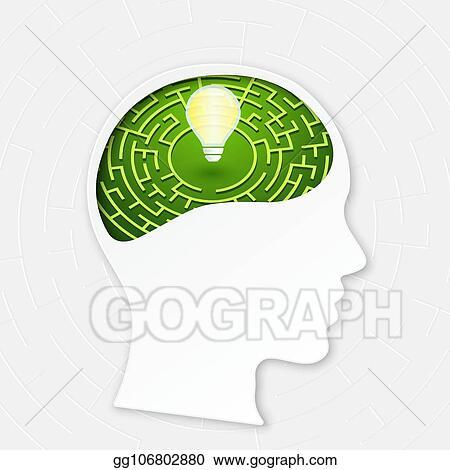 EPS Illustration - Maze of thinking  Vector Clipart