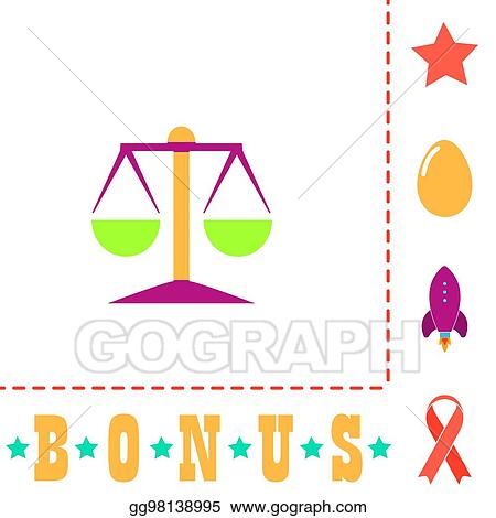 Vector Illustration Mechanical Scales Computer Symbol Stock Clip
