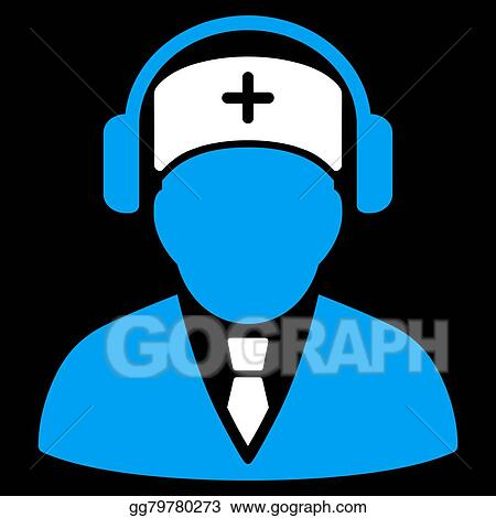 vector illustration medical call center icon eps clipart gg79780273 gograph gograph