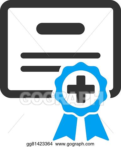 clip art vector medical certificate icon stock eps gg81423364 rh gograph com vector certificate design vector certificate design
