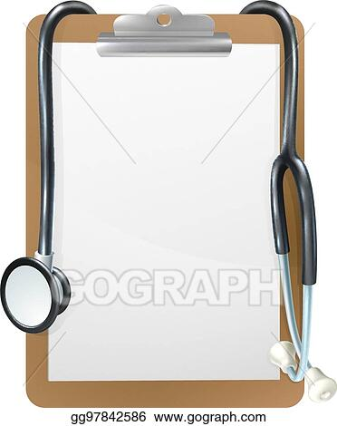 Vector Illustration - Medical clipboard background. EPS Clipart ...