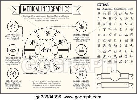 Clip art vector medical line design infographic template stock medical line design infographic template maxwellsz