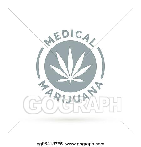 Clip Art Vector Medical Marijuana Icon Design With Cannabis Hemp